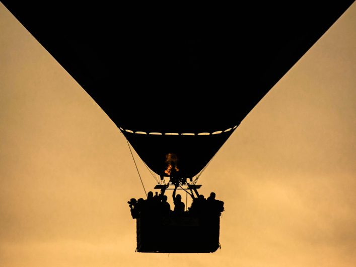 Hot air balloon silhouette 3