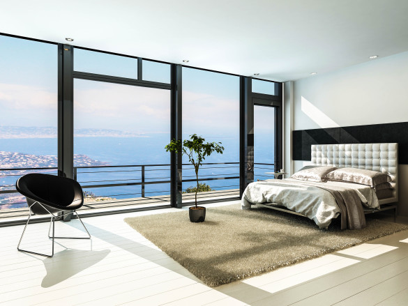 contemporary-modern-sunny-bedroom-interior-with-huge-windows-shutterstock_159600293-2-585x439