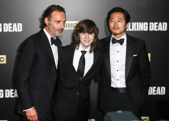 actors-andrew-lincoln-chandler-riggs-and-steven-yeun-shutterstock_442713157-editorial-only-debby-wong-2-585x419