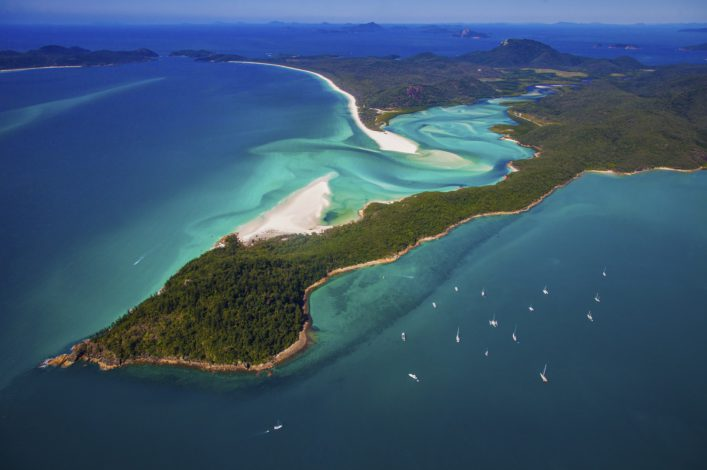 Australia. Aerial shot of Hill Inlet Whitsundays. QLD