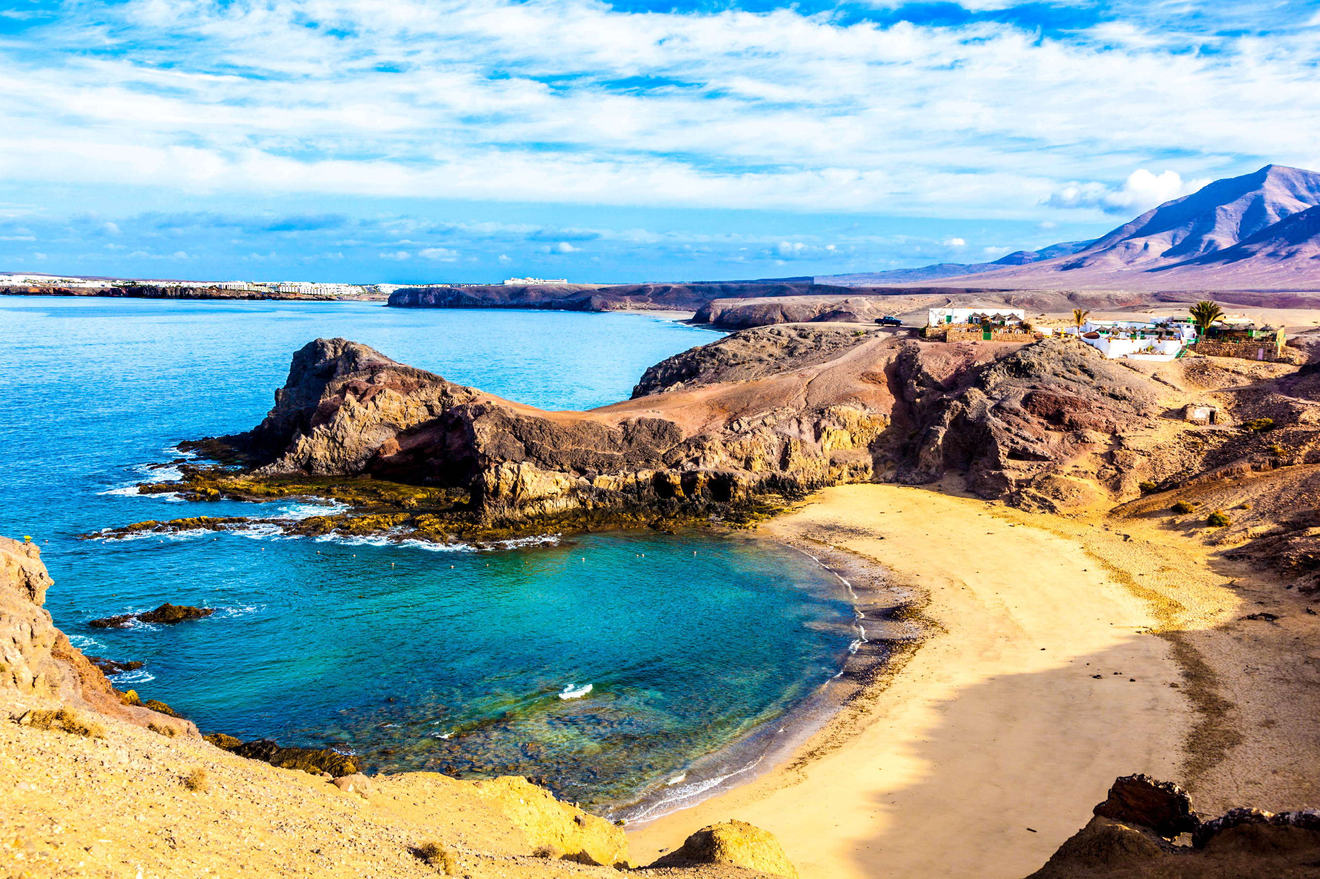 Playa de Papagayo (Parrot's beach) on Lanzarote, Canary islands, Spain