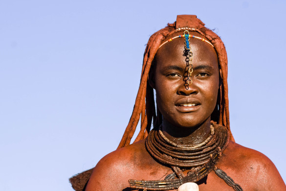 Portrait of a native Himba woman, Namibia shutterstock_147376067-2