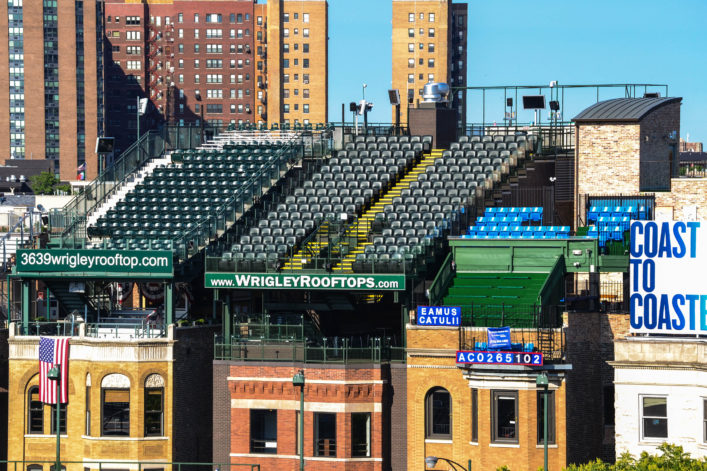 Wrigley Field Stadium – Outfield Rooftop Seats