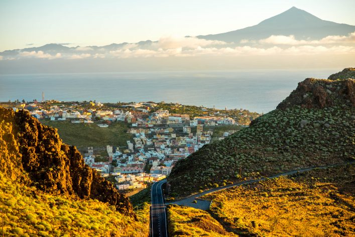 San Sebastian city on La Gomera island