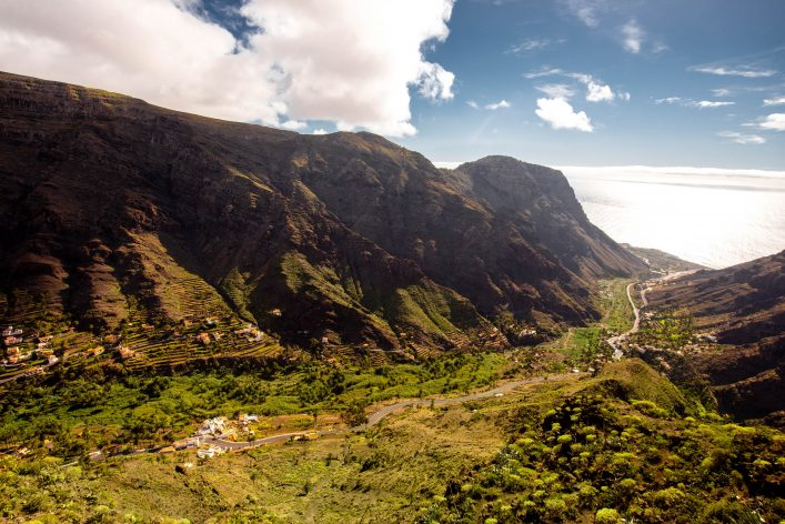 Valle Gran Rey valley on La Gomera island