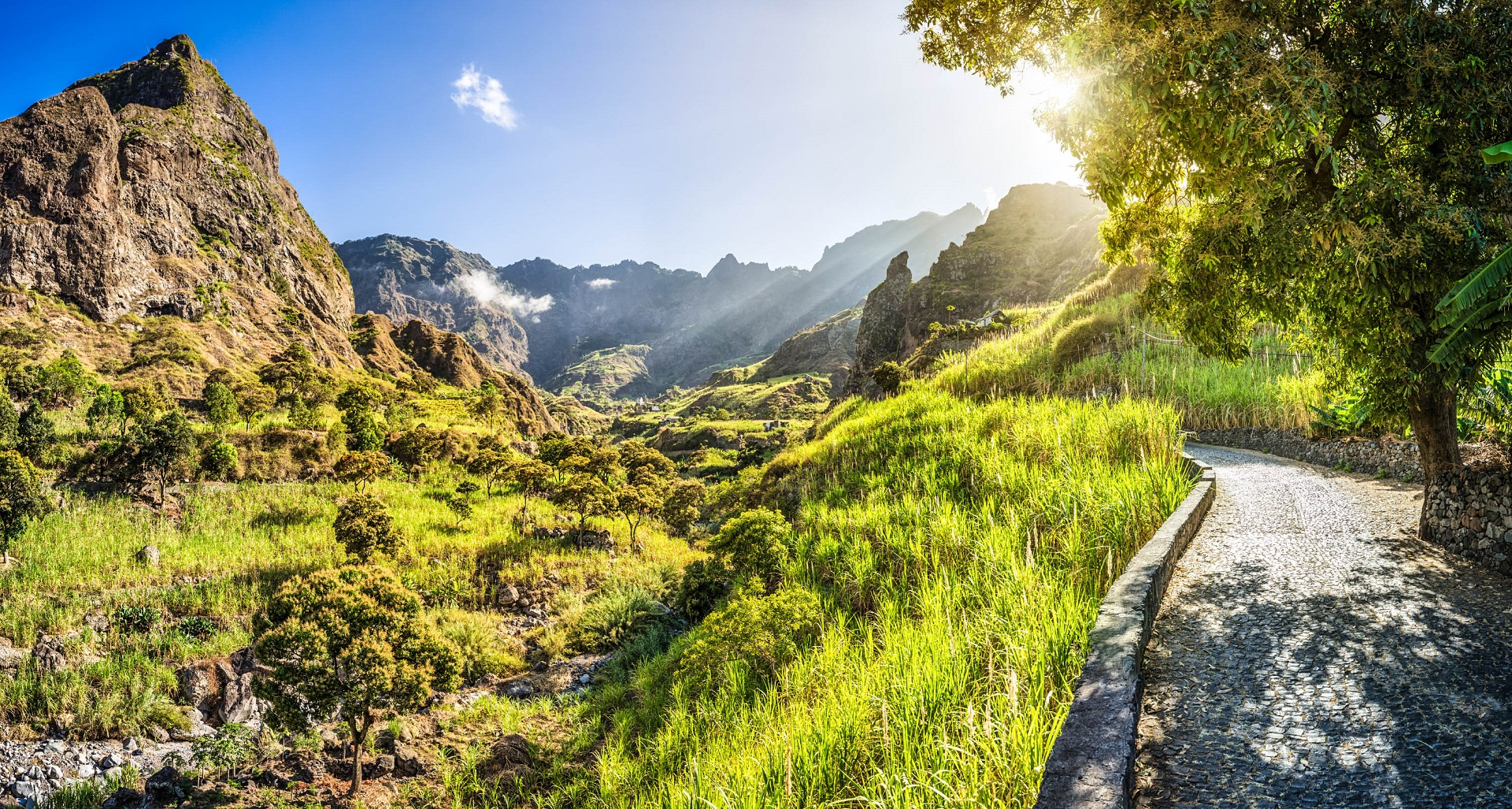 Beautiful panoramic landscape of Ribeira do Paul - Cape Verde iStock_000026471330_Large-2