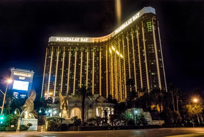 Mandalay Bay Hotel and Casino at night – Las Vegas, Nevada, USA