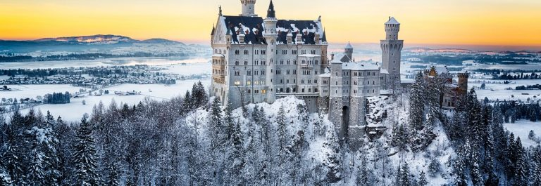 Neuschwanstein-Castle-at-sunset-in-winter-landscape.-Germany-shutterstock_246657790