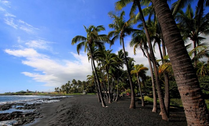 Black Beach auf Hawaii