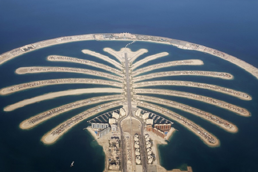 Palm Island in Dubai
