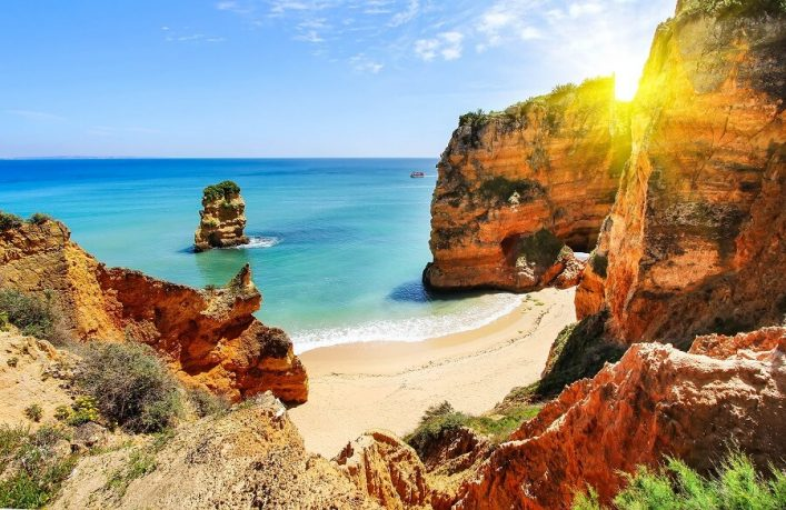 rocky-beach-at-sunset-lagos-portugal-shutterstock_289549745-2-1