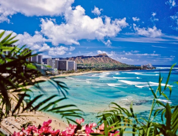 Waikiki Beach auf Hawaii