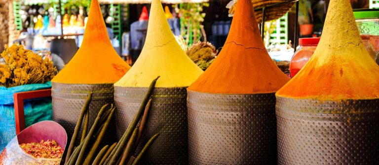 Moroccan spice stall in marrakech market, morocco_195659072_preview