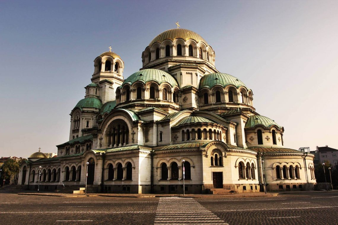 Cathedral-Alexander-Nevski-in-capital-city-Sofia-in-Bulgaria-at-the-sunset_shutterstock_161558849_tiny