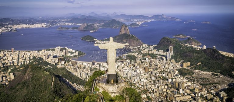 Rio-de-Janeiro-Brazil-Aerial-view-of-Christ-and-Botafogo-Bay-from-high-angle_shutterstock_255640093