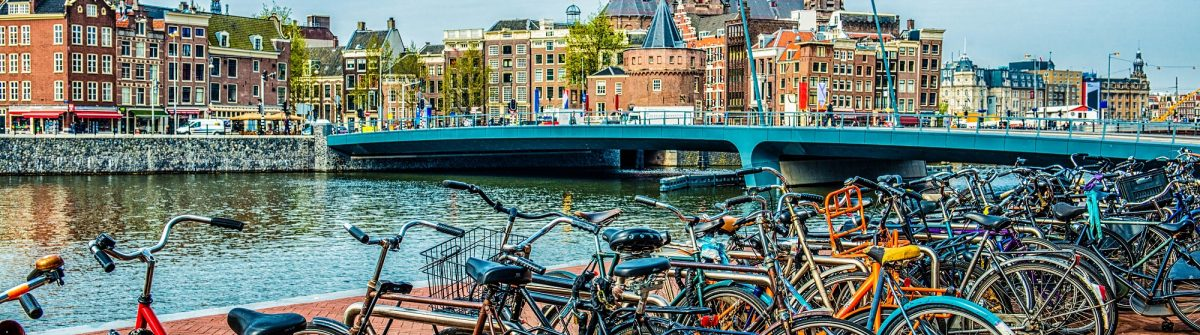 Bicycle parking next to Amsterdam City Center