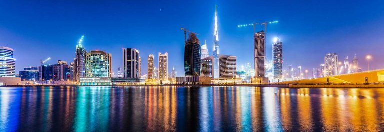 Dubai-Business-Bay-at-night-iStock_000073088207_Large-2