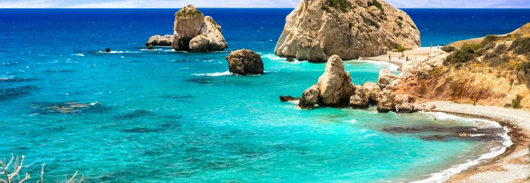 Best beaches of Cyprus – Petra tou Romiou, famous as a birthplace of Aphrodite