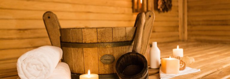 Bathing Equipment in Sauna