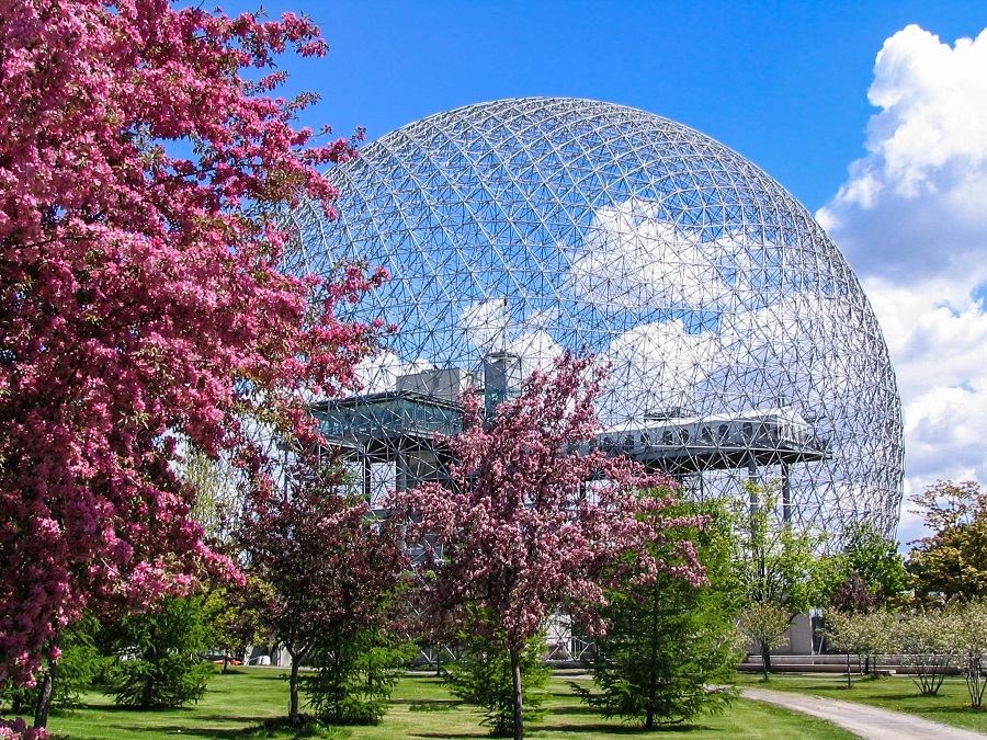 Biodome im Frühling in Montreal