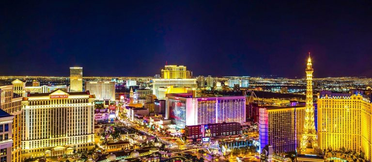 Aerial-View-of-the-Las-Vegas-Strip-at-Night-iStock_000042933500