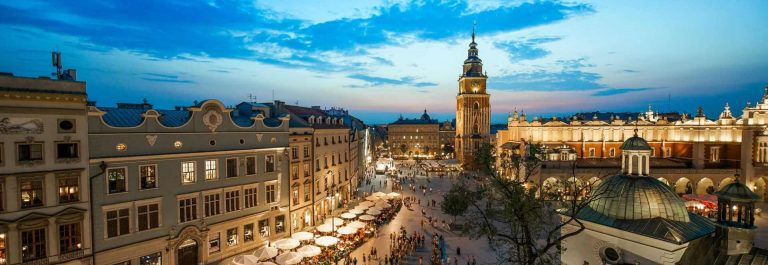 Krakow-Poland-at-night_shutterstock_348452063