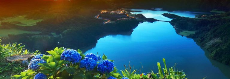 Sunset-lanscape-from-the-volcanic-crater-lake-of-Sete-Citades-in-Sao-Miguel-Island-of-Azores-Portugal-Europe_shutterstock_711620080