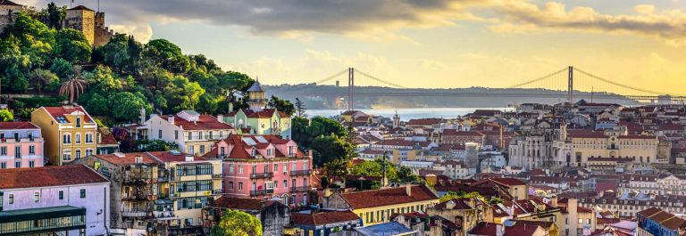 Lisbon-Portugal-Skyline-and-Castle-iStock_000052129662