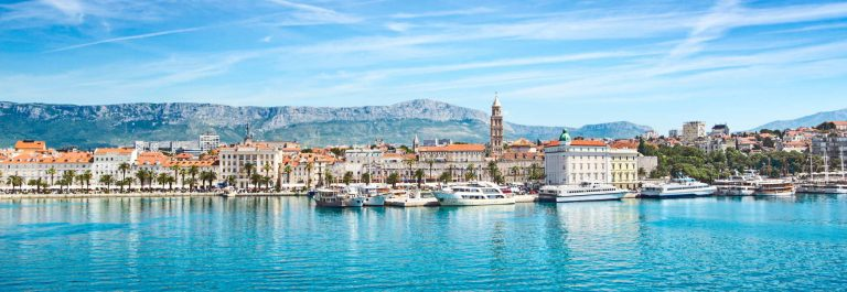 Split, Croatia, view from the sea